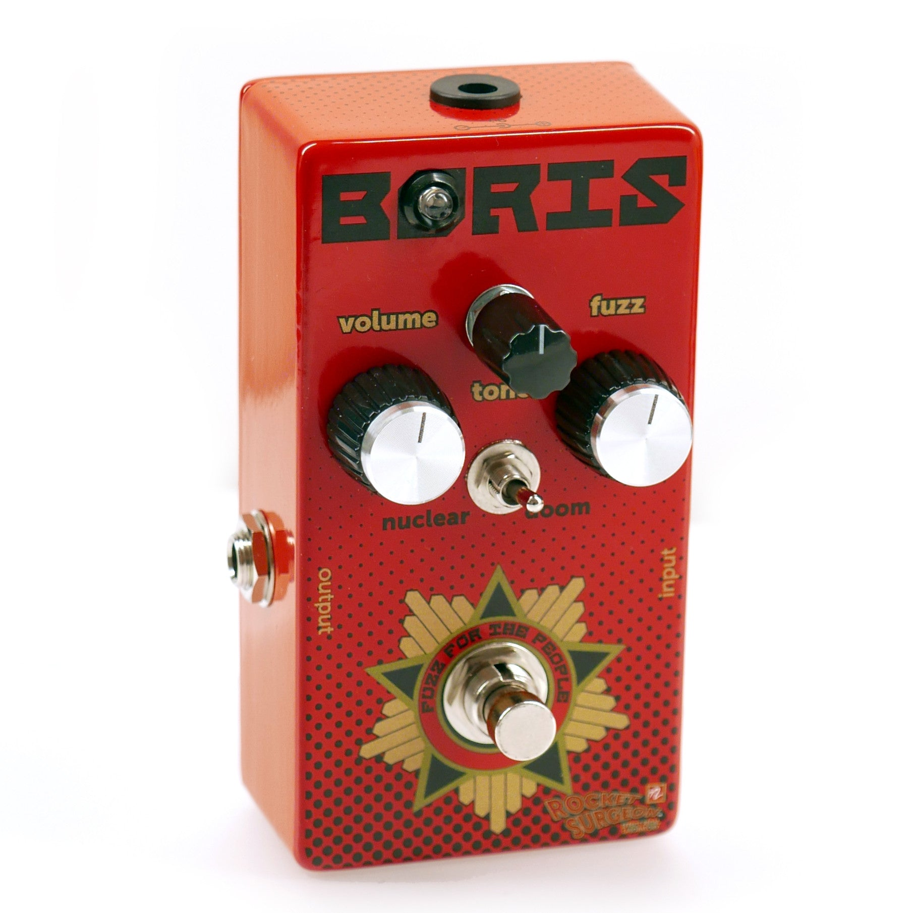 Rocket Surgeon Boris Fuzz for the People Guitar Effect Pedal Front