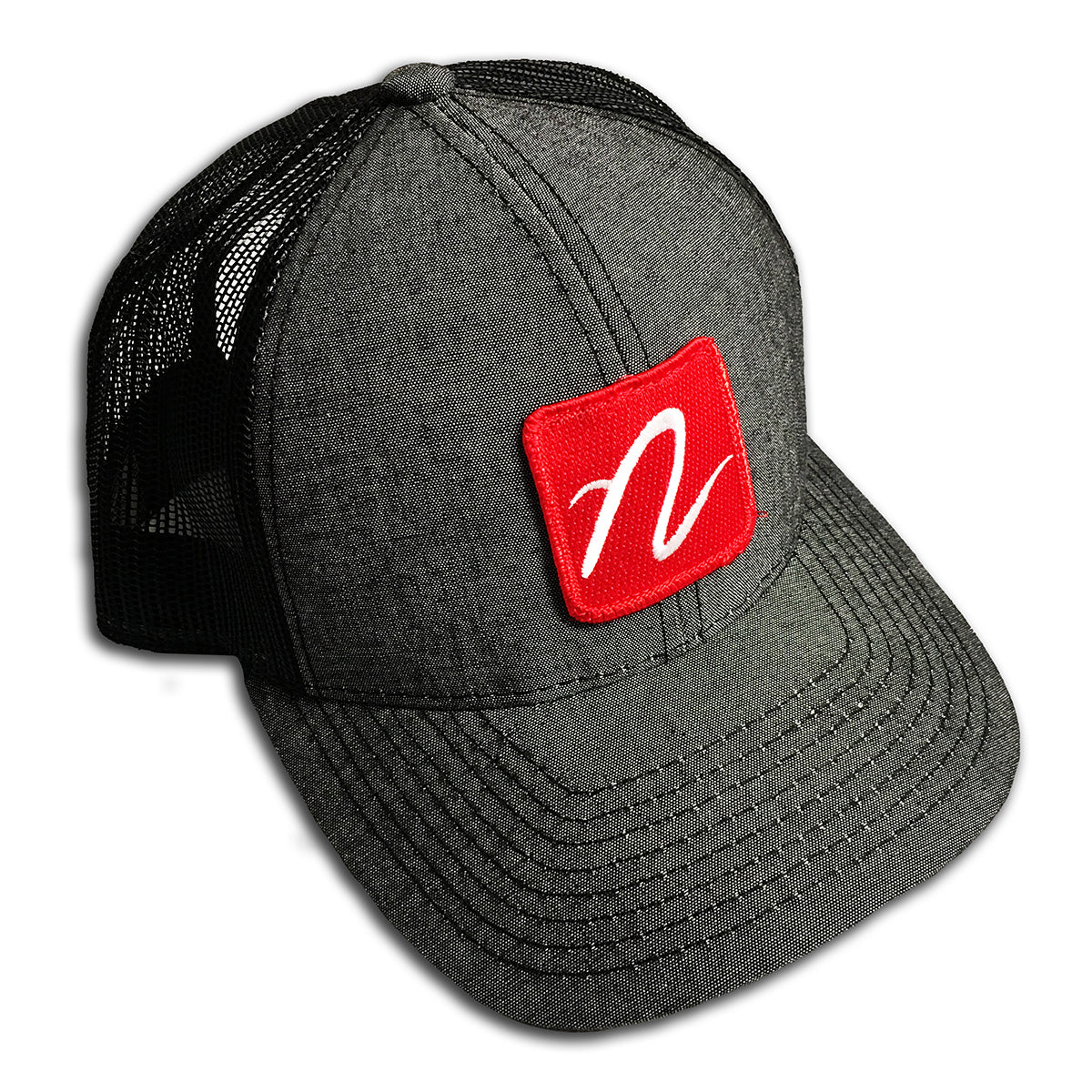 "Red ""N"" Logo Trucker Hat"