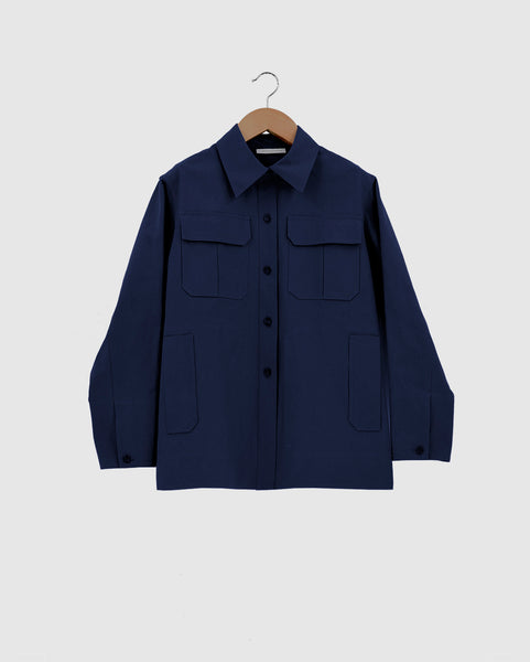 YENNY - Shaved cotton twill overshirt