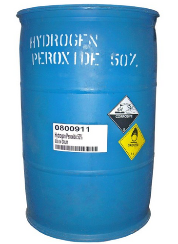 55 Gallon Drum - HYDROGEN PEROXIDE 50% SOLUTION - TECH GRADE Industrial