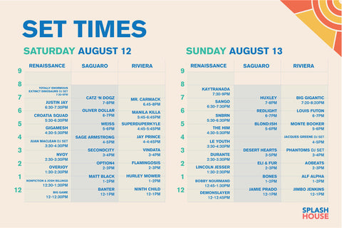 Splash House August 2017 Lineup And Set Times