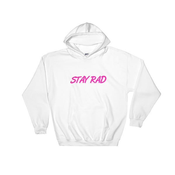 STAY RAD Black/White/Pink Hoodie