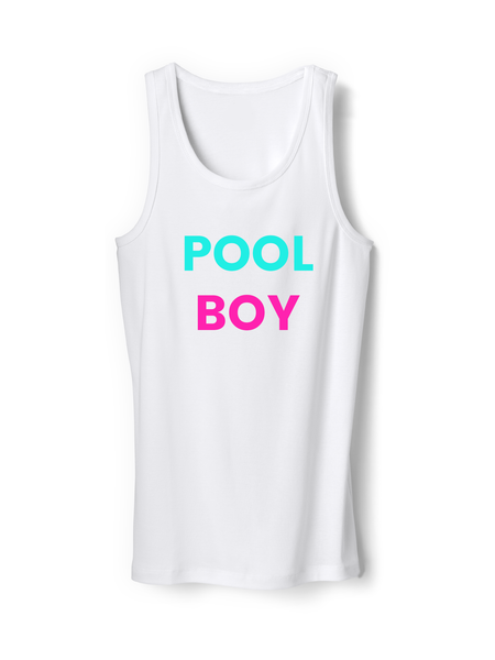 Pool Boy Funny Mens Tank Top Shirt