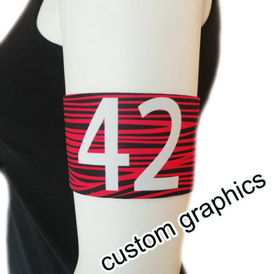 Custom Sublimated Armband Pair