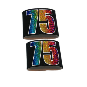 Armbands-Single Pair-Rainbow Holographic