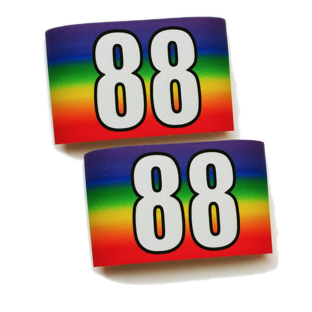 Sublimated Armbands- Rainbow Stripes
