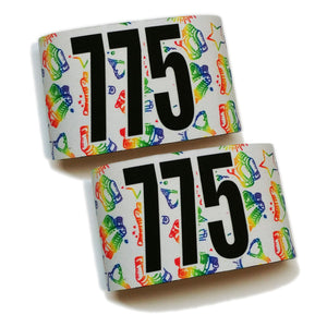 Sublimated Armbands- Rainbow Skates