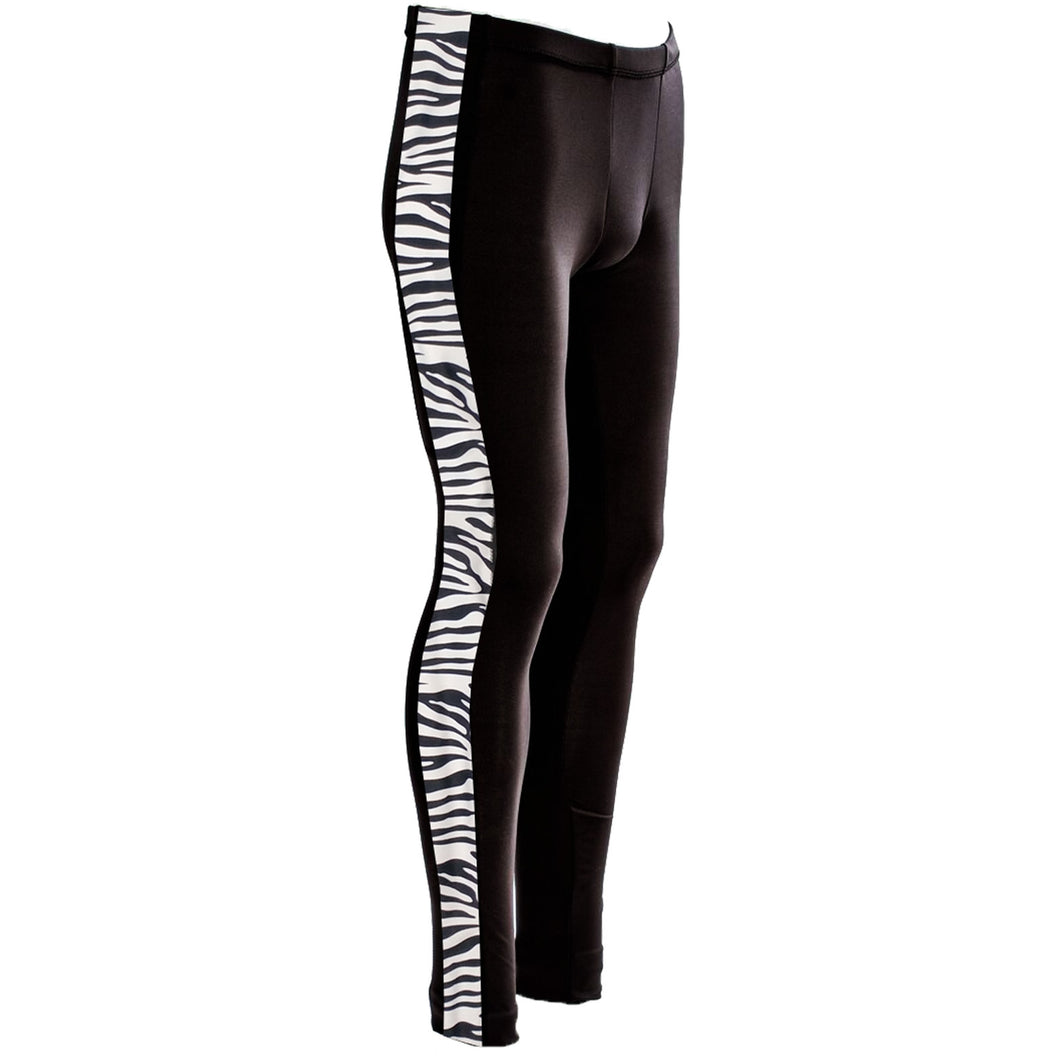 Boxer  Cut Leggings, Zebra Contrast