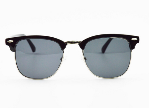 Clubmaster Style Sunglasses with UV400 Protection