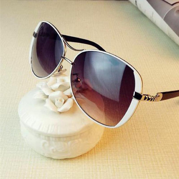 Luxury Fashion Oversized Round Sunglasses