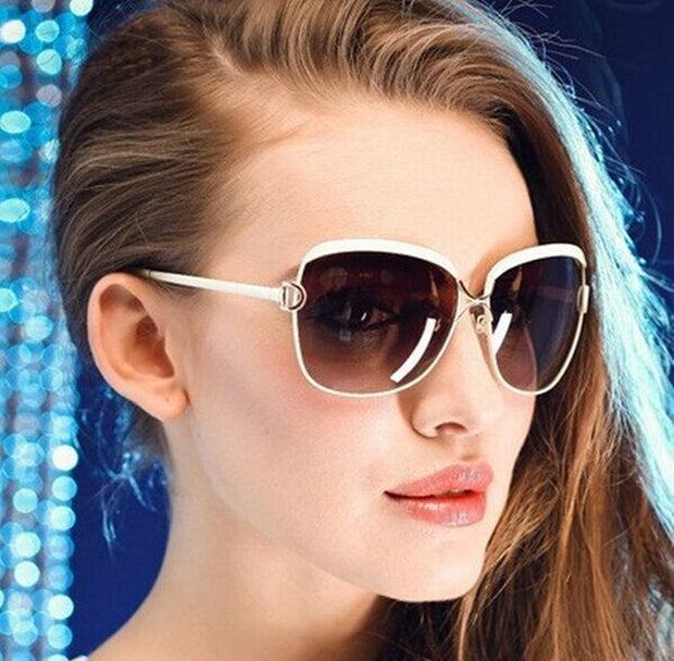 Oversized Metal Framed Square Sunglasses