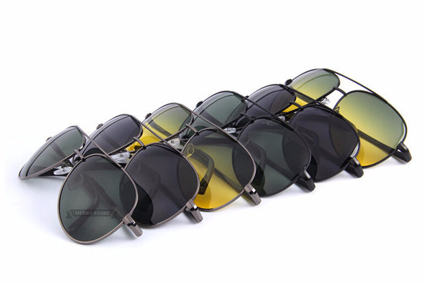 Polaroid Aviator/Pilot Sunglasses, Night Vision Option