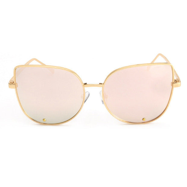 Fashion Metal Framed Cat Eye Sunglasses