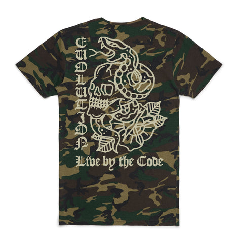 Live by the Code Camo Tee