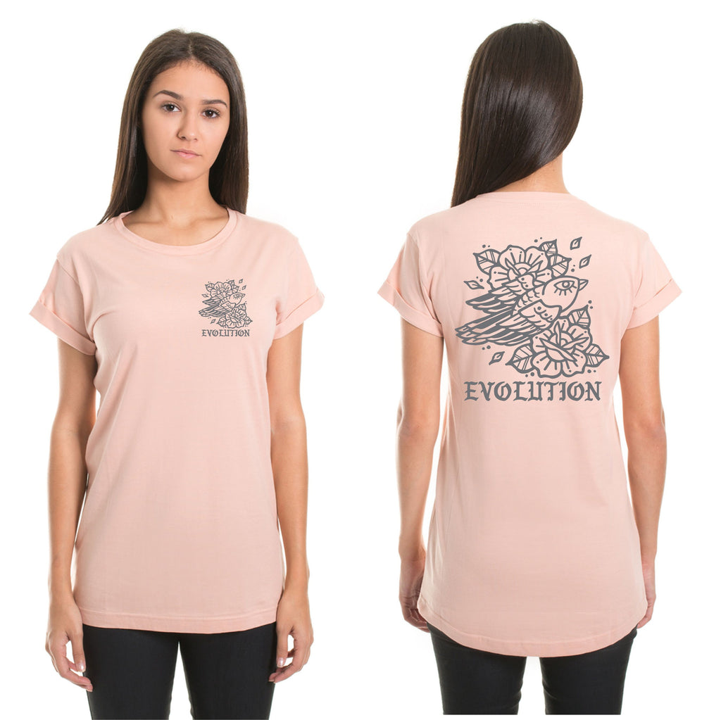 Ladies peach sparrow tee