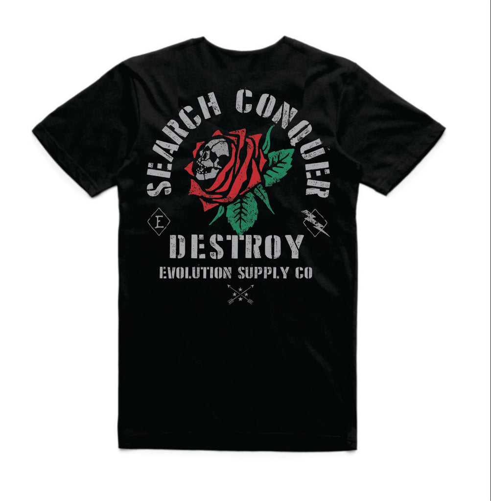 Search Conquer destroy Tee