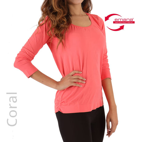 Skin Friendly Circulation Long Sleeve Scoop Neck Infrared Shirt