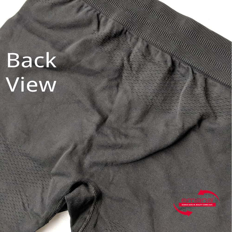 Rear View Far Infrared Circulation Compression Shorts Men - made with Emana Smart Fiber