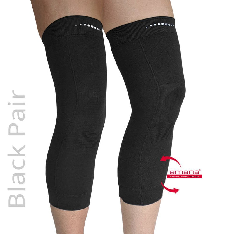 Compression Infrared Knee Band in Black - Pair - Emana Fiber