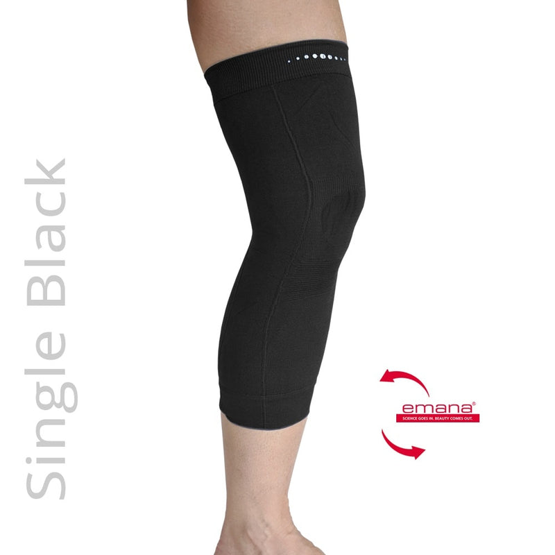 Compression Infrared Knee Band in Black - One - Emana Fiber