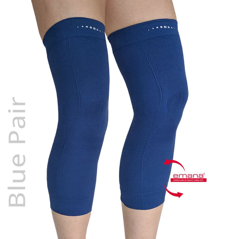 Compression Infrared Knee Band in Blue - Pair - Emana Fiber