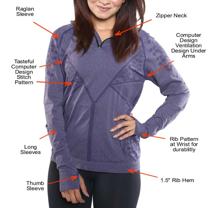Features of the Long Sleeve Far Infrared Quarter Zipper Sweater Shirt