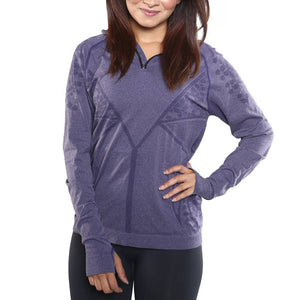 Ladies Long Sleeve Quarter Zipper Sweater Shirt