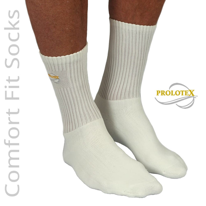 where to buy White Comfort Fit Far Infrared Socks