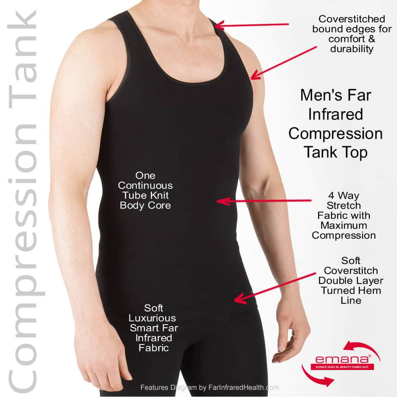 Features of the Infrared Circulation Compression Tank For Men