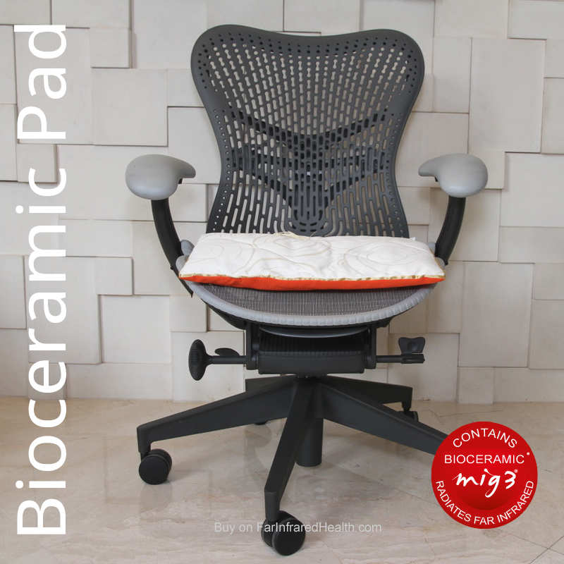 Infrared Seat Pad - Invel Bioceramic Comfort Cushion - MIG3 Japanese Technology