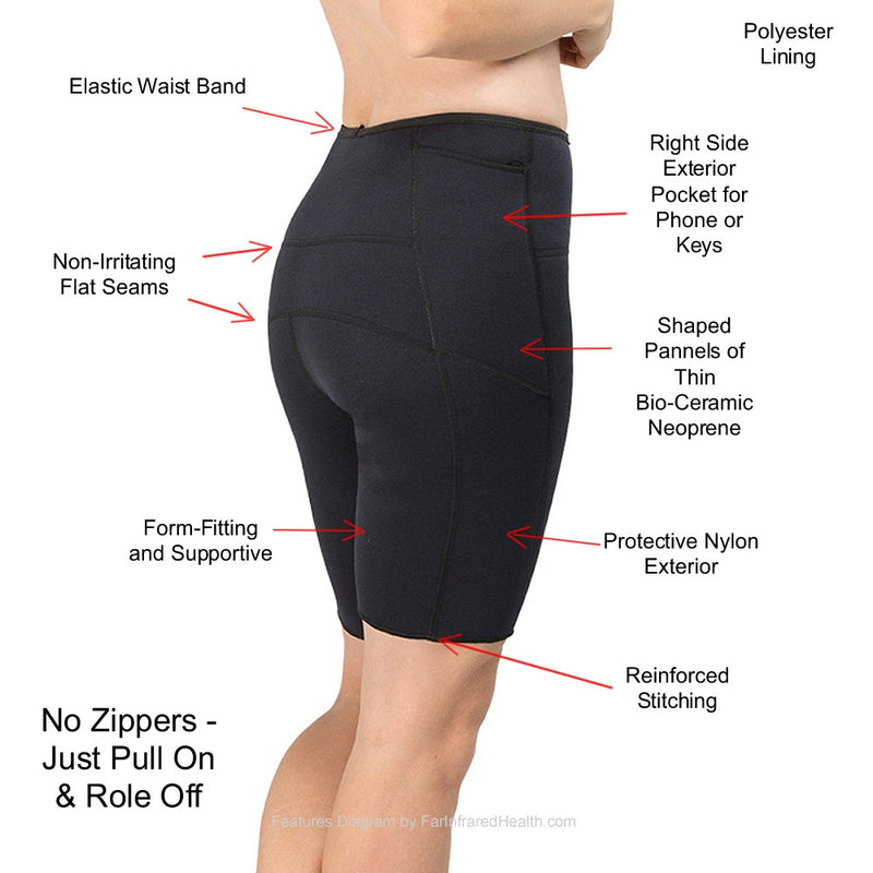 Features of the Bio-Ceramic Shorts - Black
