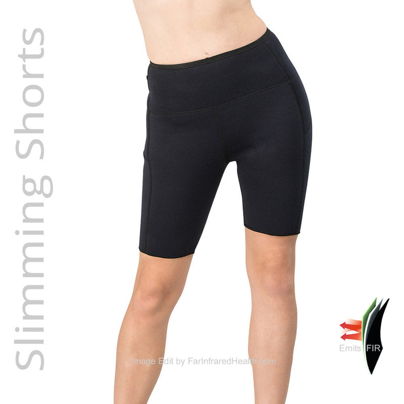 Delfin Bio-Ceramic Heat Maximizing Shorts - Black Front View
