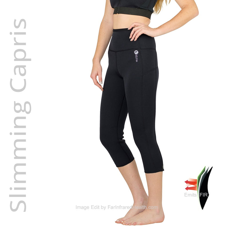 Far Infrared Slimming Capris. Anti Cellulite Shapewear. Bio-Ceramic Heat Maximizing