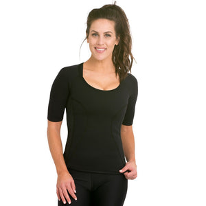 Bio-Ceramic Short Sleeve Ladies Shirt - Black