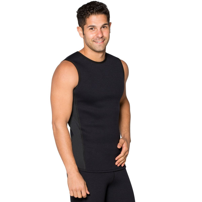 3/4 view Far Infrared Neoprene Tank Top for Men