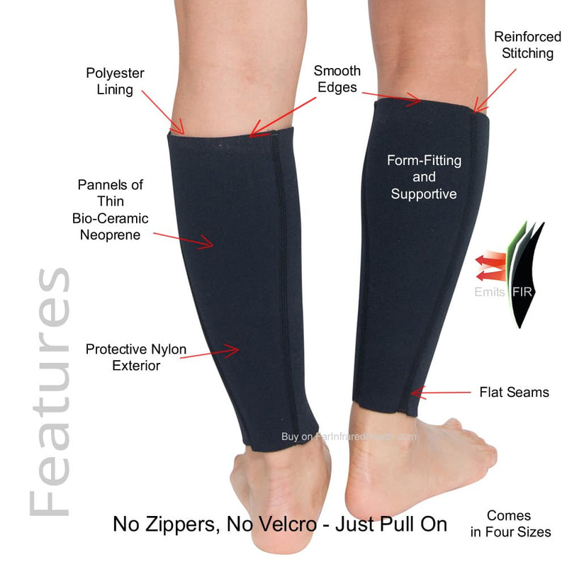 Features of the Bio-Ceramic Far Infrared Neoprene Calf Support Sleeves