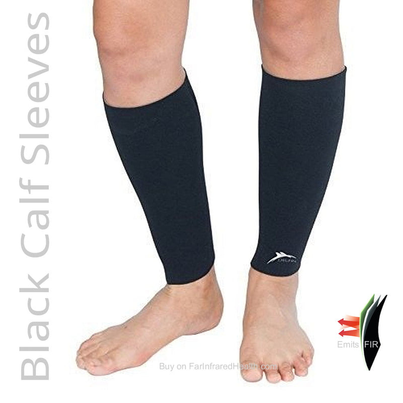 Best Compression Neoprene Bio-Ceramic Far Infrared Calf Sleeves - Front View