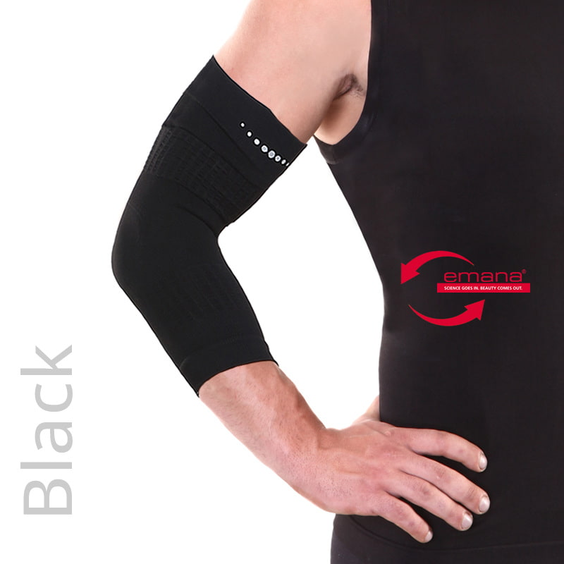 Far Infrared Circulation Elbow Bands - Black