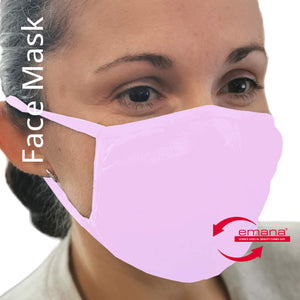Airborne Particle Filtration Far Infrared Hygienic Face Masks for Adults in Light Pink
