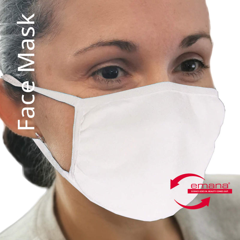 Covid Protective Far Infrared Hygienic Face Masks for Adults in White
