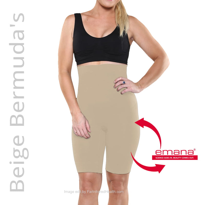Shapewear Infrared High-Waist Bermuda Shorts - Beige Front View