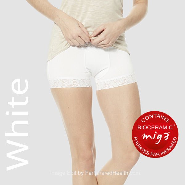 Infrared Briefs in White - Bioceramic Panties for Women