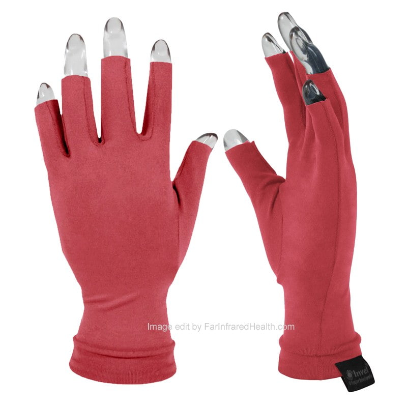 Arthritis Gloves Coral Clinically Tested Actiive Invel Far Infrared 3/4 Finger