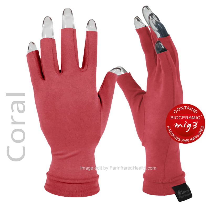 Anti Arthritis Gloves | Clinically Tested Actiive Invel Far Infrared 3/4 Finger Arthritis Gloves - Coral