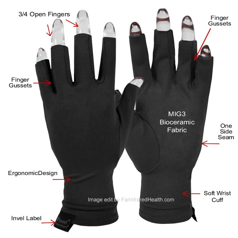 Features: Clinically Tested MIG3 Bioceramic OTI Anti Arthritis Gloves