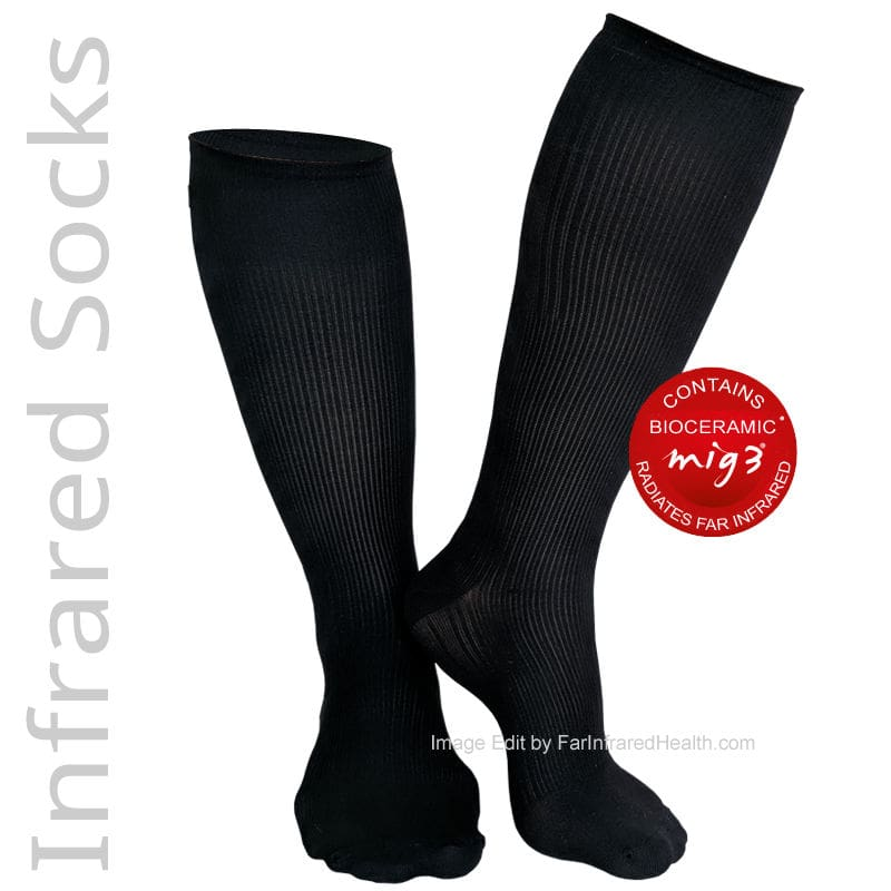 Far Infrared MIG3 Bioceramic Circulation Knee Socks in Black