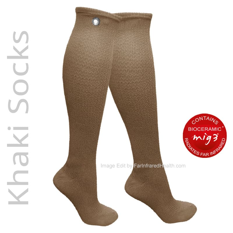 MIG3 Bioceramic Circulation Knee Socks in Khaki