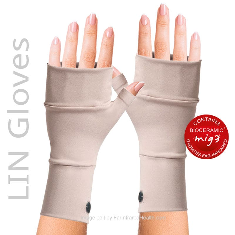 Beige  MIG3 Bioceramic INVEL LIN Arthritis Gloves - Clinically Tested Relieves Pain