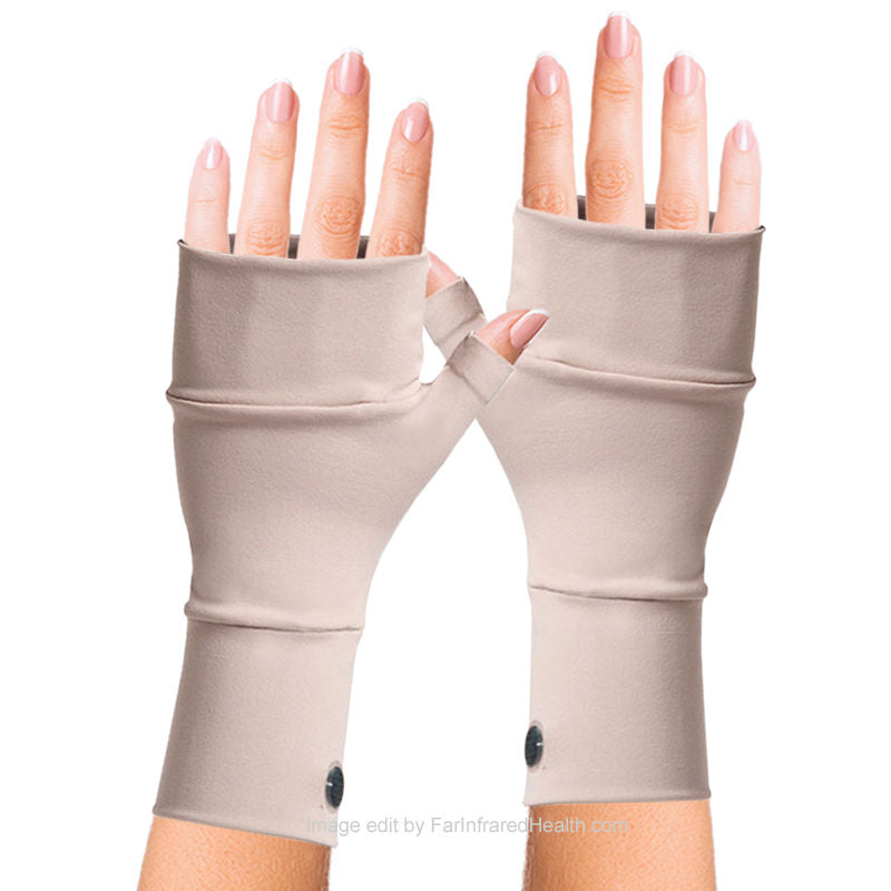 Beige Best Wrist Gloves Ganglion Cyst (Bioceramic) No Finger Gloves by Invel