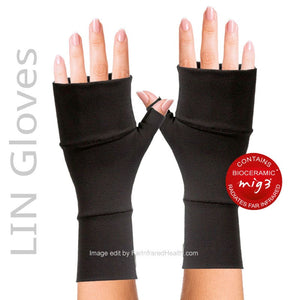 Black MIG3 Bioceramic LIN Arthritis Gloves - Clinically Tested Relieves Pain